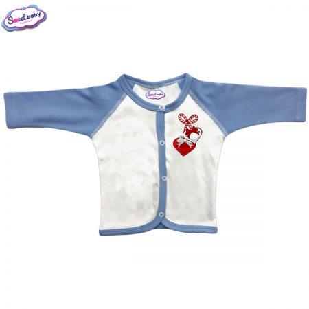 Бебешка жилетка синя Мартеничка