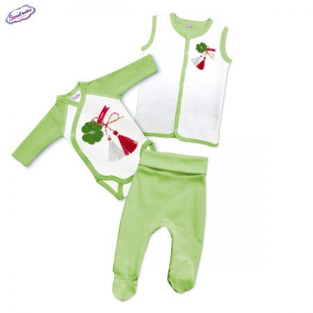 Бебешки зелен сет Късмет
