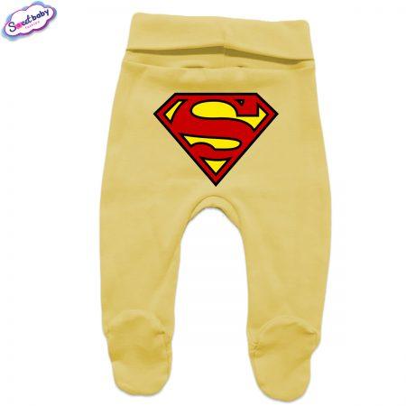Бебешки ританки в жълто Супермен