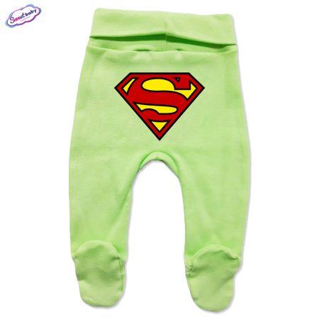 Бебешки ританки в зелено Супермен