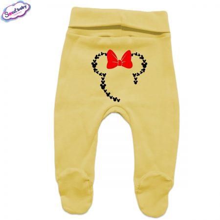 Бебешки ританки жълто Маус панделка