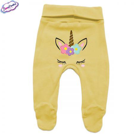 Бебешки ританки жълто Щастливо еднорогче