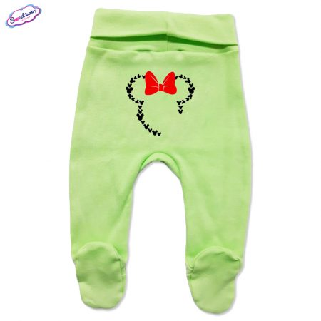 Бебешки ританки зелено Маус панделка