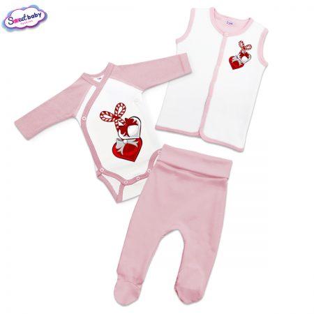 Бебешки сет в розово Мартеничка