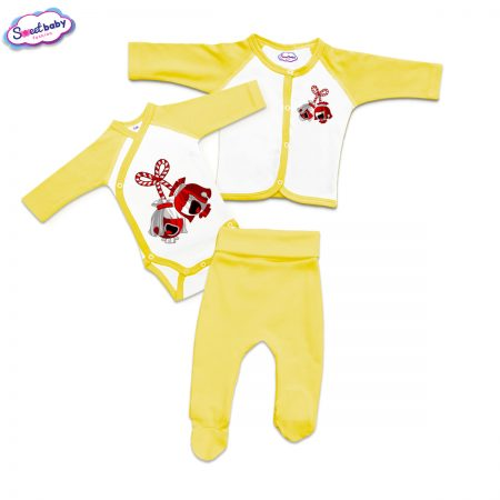 Бебешки сет жълто и бяло Мартенички