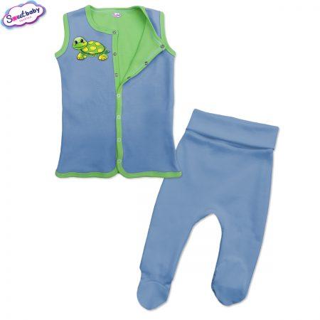 Бебешки сет синьо и зелено Костенурко