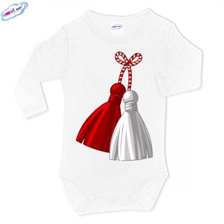 Бебешко боди в бяло Мартеница