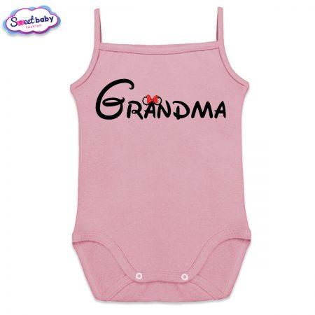 Бебешко боди в розово Grandma