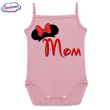 Бебешко боди в розово Mom