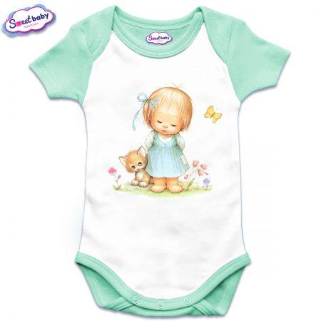 Бебешко боди US Момиченце в градинка