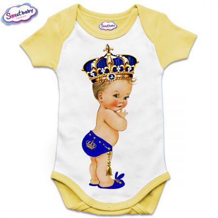 Бебешко боди US в жълто Babyking