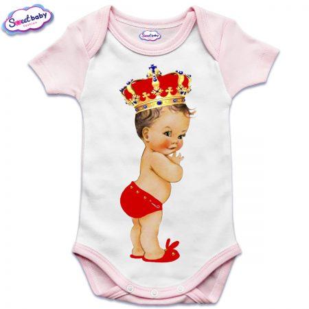 Бебешко боди US в розово Babyqueen