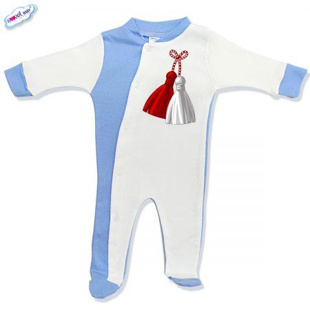 Бебешко гащеризонче бяло и синьо Мартеница