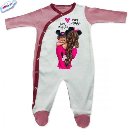 Бебешко гащеризонче в розово Baby mama