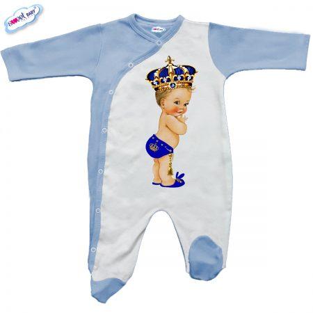 Бебешко гащеризон в синьо Babyking