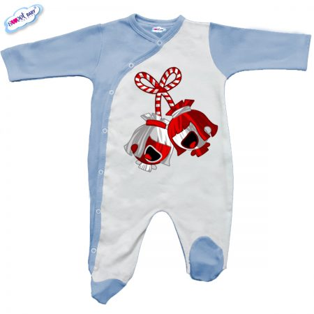 Бебешко гащеризон синьо и бяло Мартенички