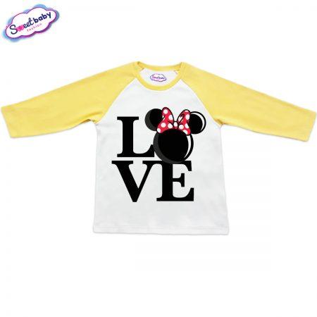 Блузка в жълто и бяло Lovee