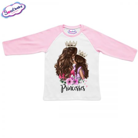 Блузка в розово и бяло Принцеси