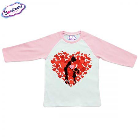 Блузка розово и бяло Обичам мама