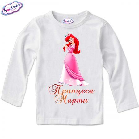 Детска блуза в бяло Принцеса Марти