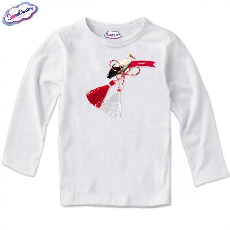 Детска блуза в бяло Щастие