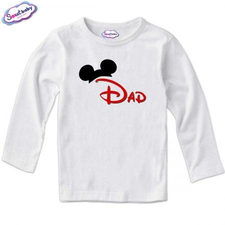 Детска блуза в бяло Dad