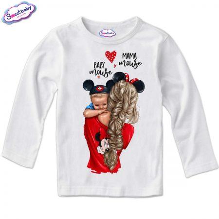 Детска блуза в бяло Mama baby