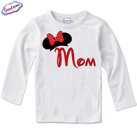 Детска блуза в бяло Mom
