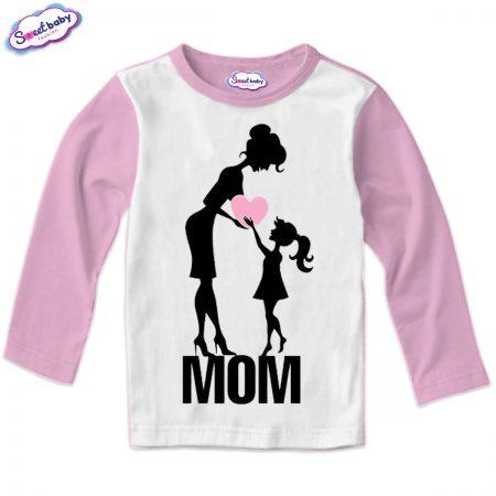 Детска блуза розово бяло Мила Мама
