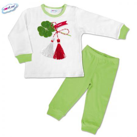 Детска пижамка в зелено Късмет
