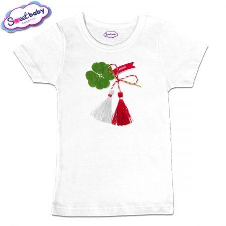Детска тениска в бяло Късмет