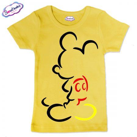 Детска тениска в жълто Мики Маус