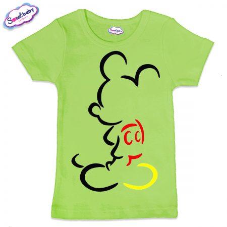 Детска тениска в зелено Мики Маус
