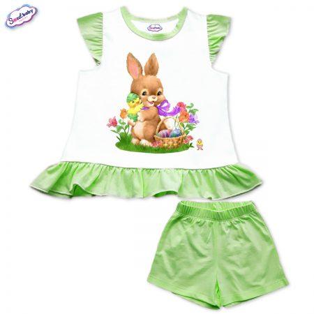 Детски сет зелено Зайче с пиленца