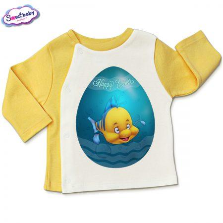 Бебешка жилетка Немо яйце в жълто