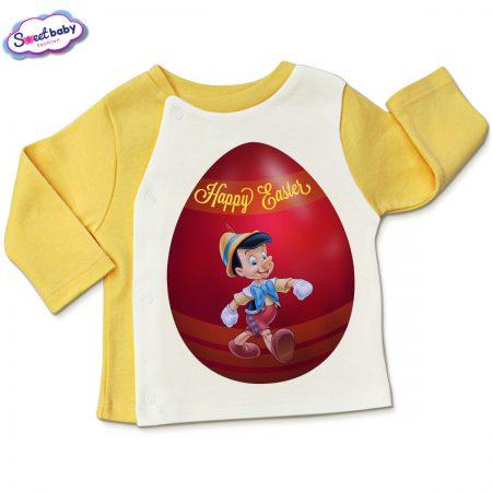 Бебешка жилетка Пинокио яйце в жълто