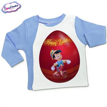 Бебешка жилетка Пинокио яйце в синьо