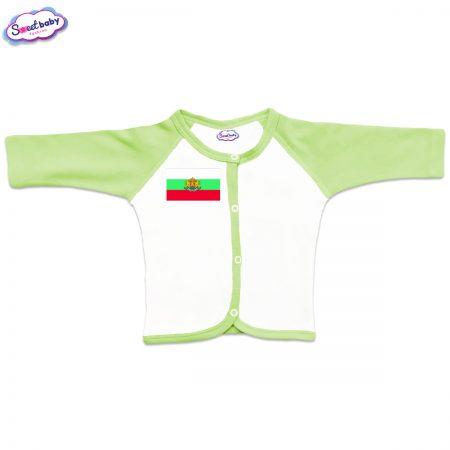 Бебешка жилетка в зелено Българско знаме