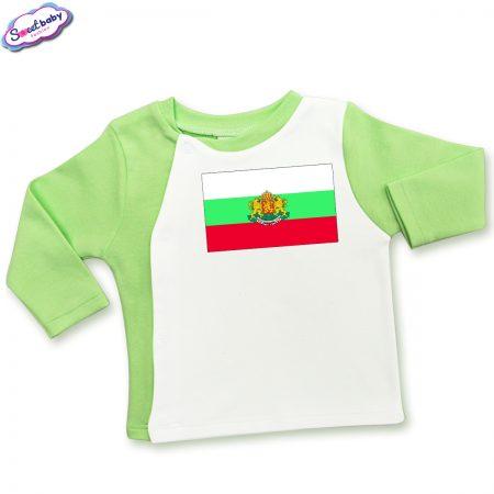 Бебешка жилетка зелено Българско знаме