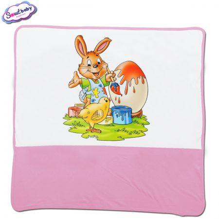 Бебешка пелена Боядисваме яйца в розово