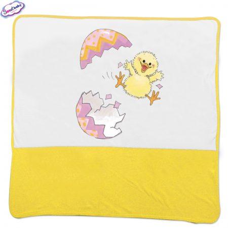Бебешка пелена Великденско пиле в жълто