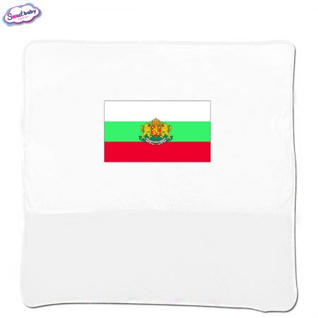 Бебешка пелена в бяло Българско знаме