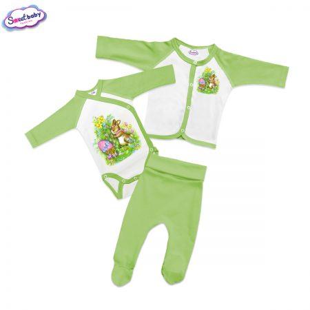 Бебешки сет Великденски зайо в зелено