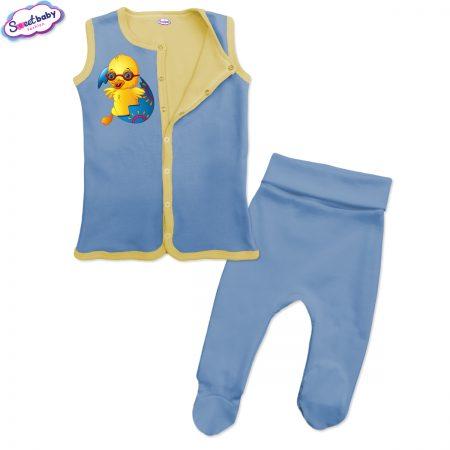 Бебешки сет Великденско пиленце синьо жълто