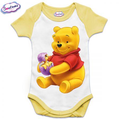 Бебешко боди Пух и яйце US жълто