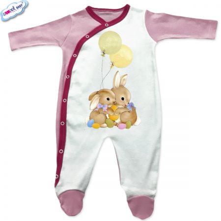 Бебешко гащеризонче Великденски зайковци с кант