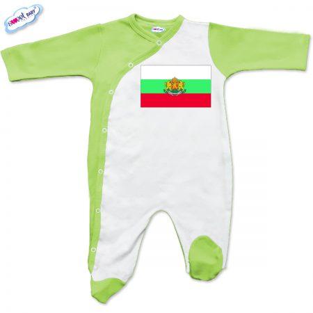 Бебешко гащеризонче в зелено Българско знаме