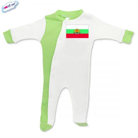 Бебешко гащеризонче зелено Българско знаме