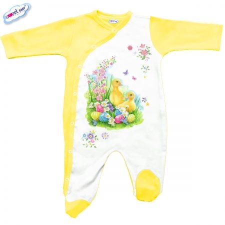 Бебешко гащеризон Пролетен Великден в жълто