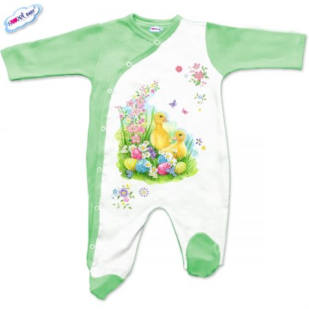 Бебешко гащеризон Пролетен Великден в зелено